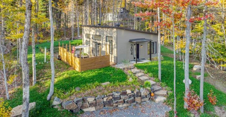 Pour 269 000 $ devenez propriétaire d'une chaleureuse maison contemporaine et d'une montagne de 1 380 000 pi²