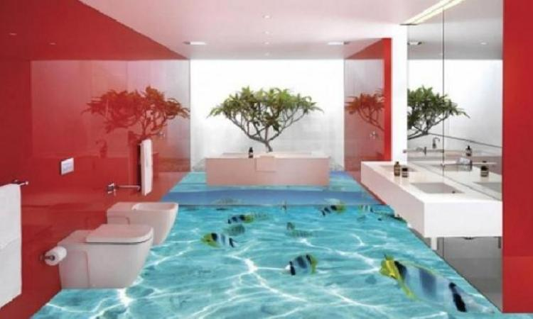 Delightful Salle De Bain 3 D #5: ... 17 Photos De Planchers De Salles De Bain En 3D Qui Feront En Sorte Que  Vous