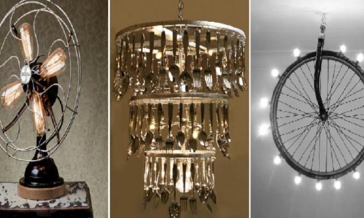 La créativité humaine n'a pas de limites! Ces 20 détournements d'objets en lampes design nous font craquer!